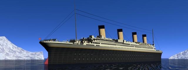Titanic boat - 3D render