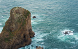 "View of a rock towards the sea at ""Cabo da Roca"" - Portugal"