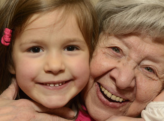 Grandmother and Granddaughter Portrait 2