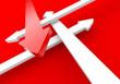 Finde den richtigen Weg - Rot Weiß
