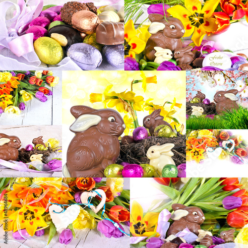 Frohe Ostern: Osterkarte und Geschenkanhänger
