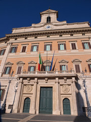 Palazzo Montecitorio, home of the Italian Parliament.