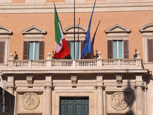 Palazzo Montecitorio, home of the Italian Parliament.