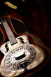 Vintage guitar in case