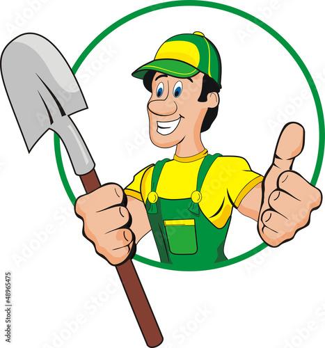 shovel man cartoon