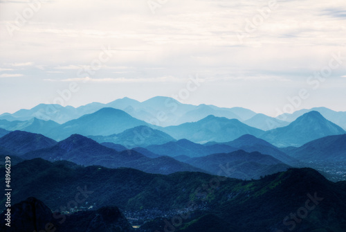 View on mountains from Corcovado, Rio de Janeiro, Brazil - 48966239
