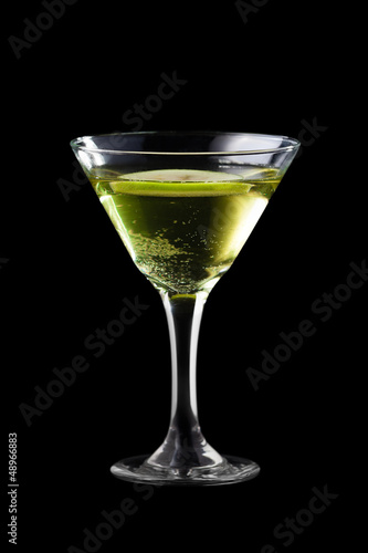 Apple martini coctail