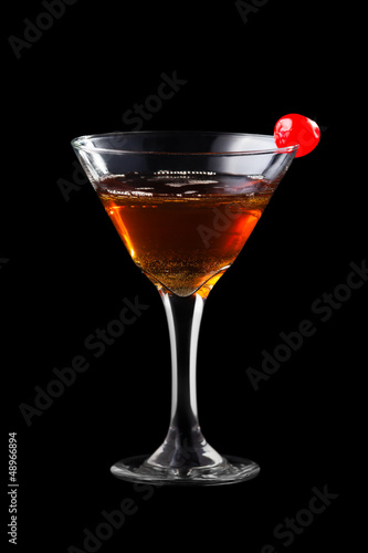 Apple manhattan coctail