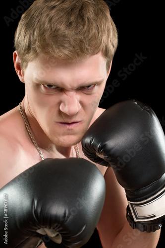 Furious young man
