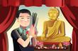 Buddhist man