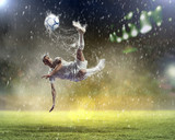 Fototapeta deszcz - piłka nożna - Drużynowe