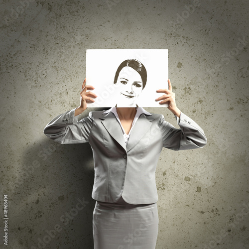 Business woman with drawing