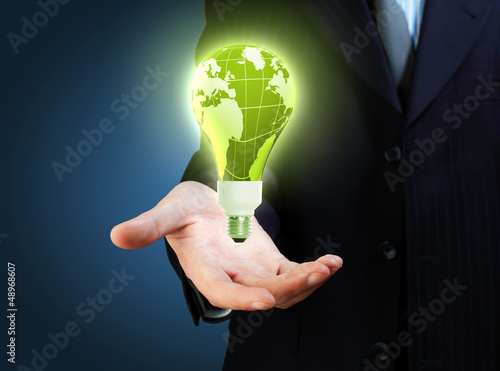 hand and lamp