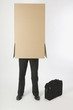 Businessman Inside A Cardboard Box