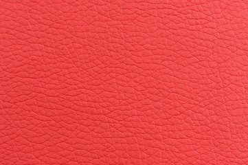 Matte Red Artificial Leather Texture