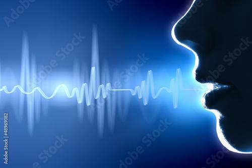 Fotobehang Uitvoering Sound wave illustration