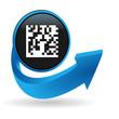 flashcode sur bouton flêche bleue