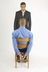Businessman Being Disciplined