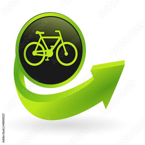 bouton vélo flêche verte