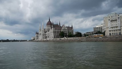 HD1080 The Hungarian Parliament Building in Budapest