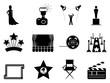 movie and oscar symbol icons