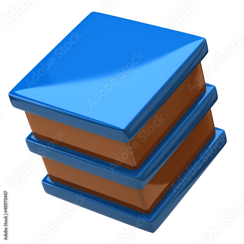 Illustration of abstract cube