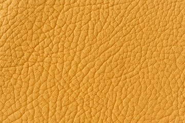 Matte Yellow Patterned Faux Leather Background Texture