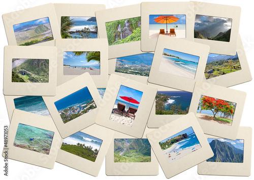 île de la Réunion sur diapositives