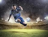 Fototapete Regen - Soccer - Mannschaft