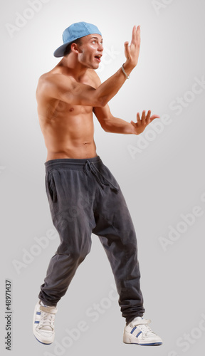 young man dancing hip hop