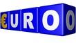 Euro blue cubes - €
