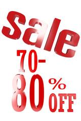 70-80 Percent Sale