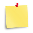 Notizzettel mit roter Pin