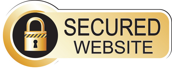 Secured Website Sticker Gold