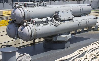 Torpedoes on US Navy destroyer during Fleet Week 2012