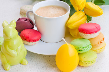 easter breakfast with macaroons