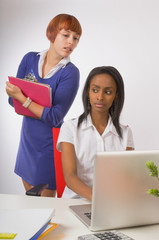 Woman Stealing Ideas from Co-Worker