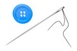 Needle and Blue Button