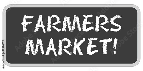 TF-Sticker eckig oc FARMERS MARKET!