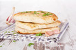 Delicious naan background.