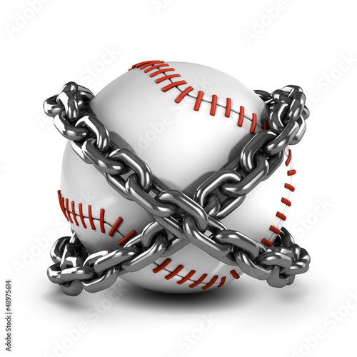 Chained baseball