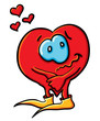 Cartoon romantic heart