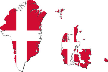 Map of Denmark (with Greenland and Faroe Islands)