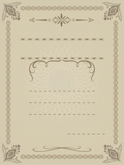 Certificate vector template with copy space