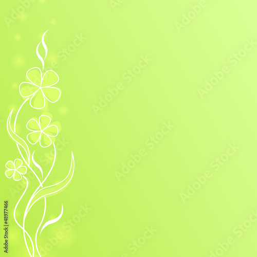 Abstract light green flower spring background