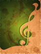 Retro musical background with musical note.