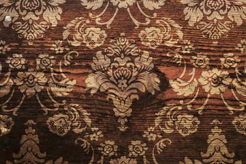Grunge Hintergrund Florales Ornament auf Holz