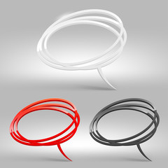 Abstract glossy speech bubbles - vector illustration