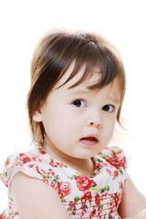 Perplexed little girl
