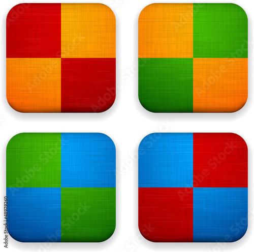 Web linen app icons.